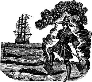 Captain Kidd (song) - Captain Kidd burying the Bible (1837)