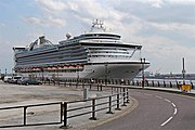 Caribbean Princess at Liverpool Cruise Terminal