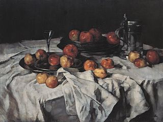 Still Life with Apples, Wine-Glass and Pewter Jug