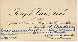 Carte De Visite Professionnelle Du Dbut XX E Sicle Avec Typographie Grave Dite Langlaise France