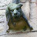 Carved dog on Copley Church (8164739370).jpg