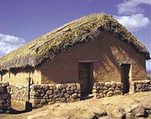 Numantia - Modern reconstruction of the Celtiberian houses in Numantia