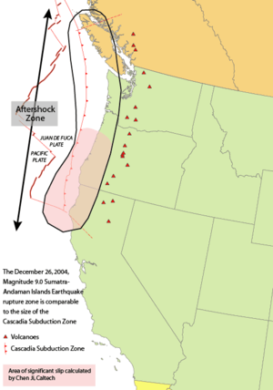 1700 Cascadia earthquake - Cascadia subduction zone