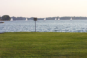 Oakland County, Michigan - Cass Lake, the largest and deepest lake in Oakland County