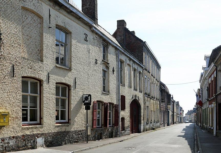 Cassel (département du Nord, France): the Rue du Maréchal Foch
