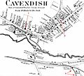 CavendishVermont 1869Map Beers AnnotatedPhineasGageLocations.jpg