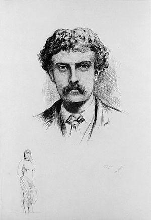 Cecil Gordon Lawson - Portrait of Lawson by Hubert von Herkomer, 1883