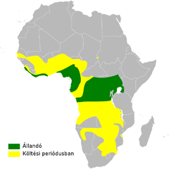 Cecropis semirufa distribution map.png
