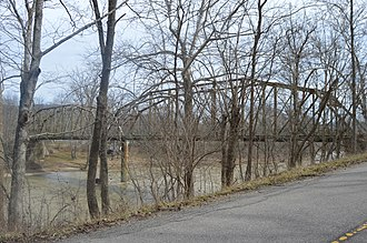 National Register of Historic Places listings in Franklin County, Indiana - Image: Cedar Grove Bridge, upstream side