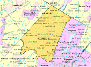 West Milford, New Jersey - Image: Census Bureau map of West Milford, New Jersey