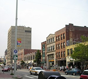 Massachusetts Avenue (metropolitan Boston) - Massachusetts Avenue forms the commercial heart of Cambridge's Central Square.