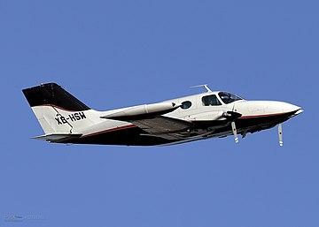 Cessna 401 XB-HSW at KPHX.jpg