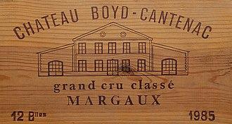 Château Boyd-Cantenac - Image: Château Boyd Cantenac 1985 J1