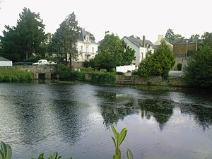 Châteaubriant - The Chère in Châteaubriant.