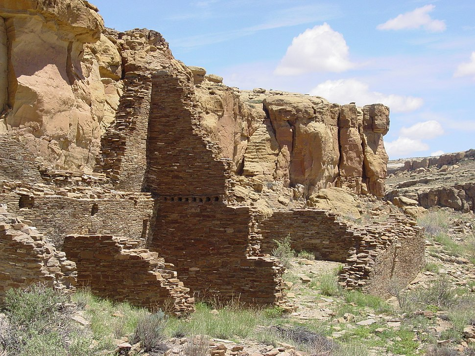 Chaco Canyon Hungo Pavi ruins staircase NPS
