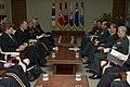 Chairman of the Joint Chiefs of Staff Navy Adm. Mike Mullen, second from left, meets with South Korean Minister of National Defense Kim Kwan-jin, second from right, and Gen. Han Min-koo, right, chairman of 101208-N-TT977-071.jpg
