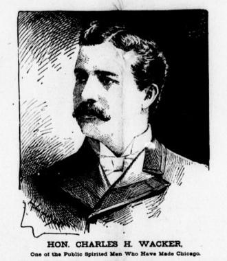 Charles H. Wacker - Charles Wacker in the Chicago Eagle, July 18, 1896.
