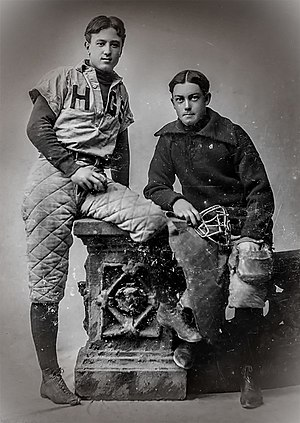 Charles Ives - Charles Ives, left, captain of the baseball team and pitcher for Hopkins Grammar School