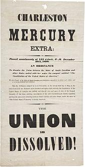 """Giornale con testo extra large, con annotazione """"Union is Dissolved"""""""