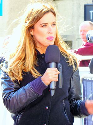 Charlie Webster - Webster presenting the Edinburgh Tour Series round for ITV4 in May 2016