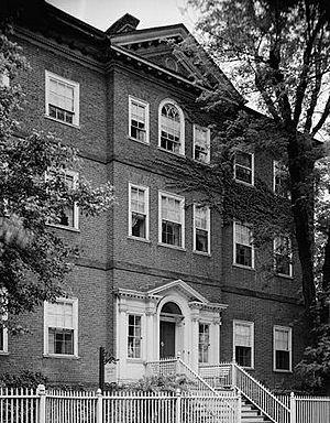 Chase–Lloyd House - Image: Chase Lloyd House, 22 Maryland Avenue & King George Street, Annapolis (Anne Arundel County, Maryland)