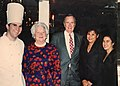 Chef Kevin Doherty with President George H.W. Bush and First Lady Barbara Bush at Baroque Restaurant, Houston, Texas.jpg