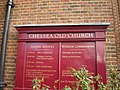 Chelsea Old Church, Cheyne Walk, Sign - geograph.org.uk - 1569948.jpg
