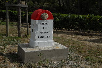 Alairac - A milestone on the Way of Saint James