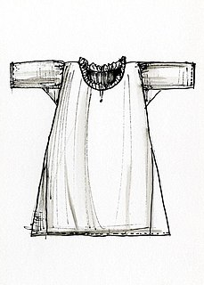 Chemise Loose-fitting, straight-hanging shirtlike underwear with or without sleeve