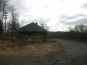 Chemung, New York - The former Erie Railroad station in Chemung as seen in February 2012