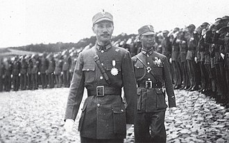 Chen Cheng - Chen Cheng (right) inspecting troops with Chiang Kai Shek