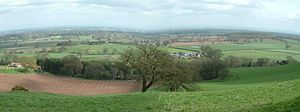 Cheshire Plain - The Cheshire Plain viewed from the Mid-Cheshire Ridge