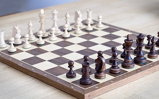 Chess is one of the most well-known and frequently played strategy games. Chess set.jpg