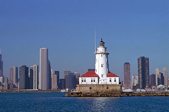 Chicago Harbor Light - Image: Chicago lighthouse