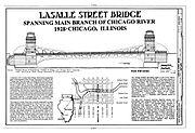 Chicago River Bascule Bridge, LaSalle Street, Chicago