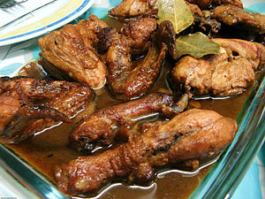 English: Chicken adobo.