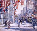 Childe Hassam - Early Morning on the Avenue in May 1917.jpg