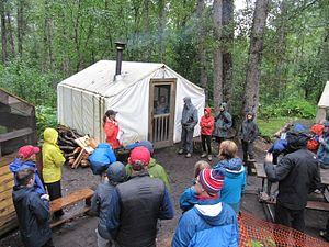 Chilkoot Trail - Briefing at Sheep Camp, 2016