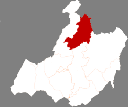 Location of Genhe in Hulunbuir City