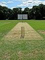 Church Times Cricket Cup final 2019, Wicket 1.jpg