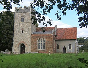 Grade II* listed buildings in Mid Suffolk - Image: Church of St Mary, Akenham geograph.org.uk 548965