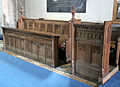 Church of St Mary the Virgin, Shipley, West Sussex, England ~ interior chancel south choir stalls.JPG