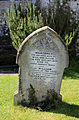 Church of St Michael, Leaden Roding, Essex, England - churchyard gravestone.jpg