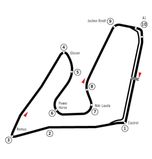 1997 Austrian Grand Prix - Image: Circuit A1 Ring