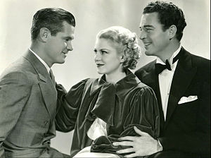 Song and Dance Man (film) - Still with Paul Kelly, Claire Trevor, and Michael Whalen