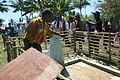 Clean, fresh water comes to the village. Timor Leste 2010.jpg