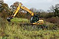 Clearing a nature reserve pond to enhance conservation (2) - geograph.org.uk - 1570035.jpg