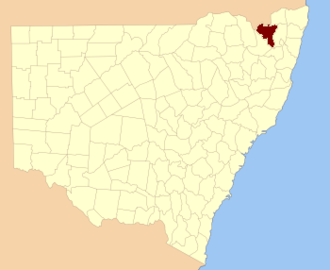 Clive County, New South Wales - Location in New South Wales