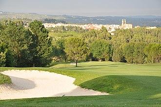 Sant Esteve Sesrovires - Barcelona Golf Club, with Sant Esteve Sesrovires behind