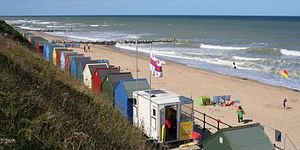 Mundesley - Mundesley beach in August 2013